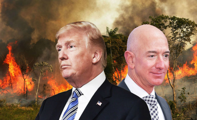 Trump Refuses US Aid for Amazon Fire Until Amazon Starts Paying Its Fair Share of Taxes