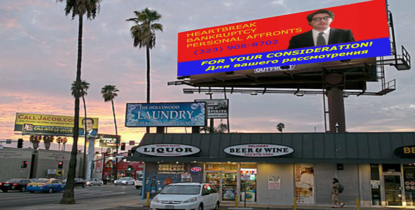Personal Injury Lawyer Inadvertently Nominated For Golden Globe Following Well-Placed Billboard